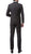 Mens ZNL22S 2pc 2 Button Slim Fit Charcoal Grey Zonettie Suit - Ferrecci USA