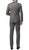 Mens ZNL22S 2pc 2 Button Slim Fit Grey Zonettie Suit - Ferrecci USA