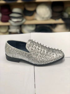 Sparko 16 Silver Spike Loafers
