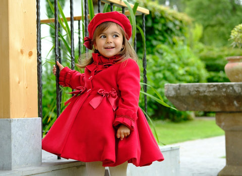 Red Coat and Beret w/bow by Sonata