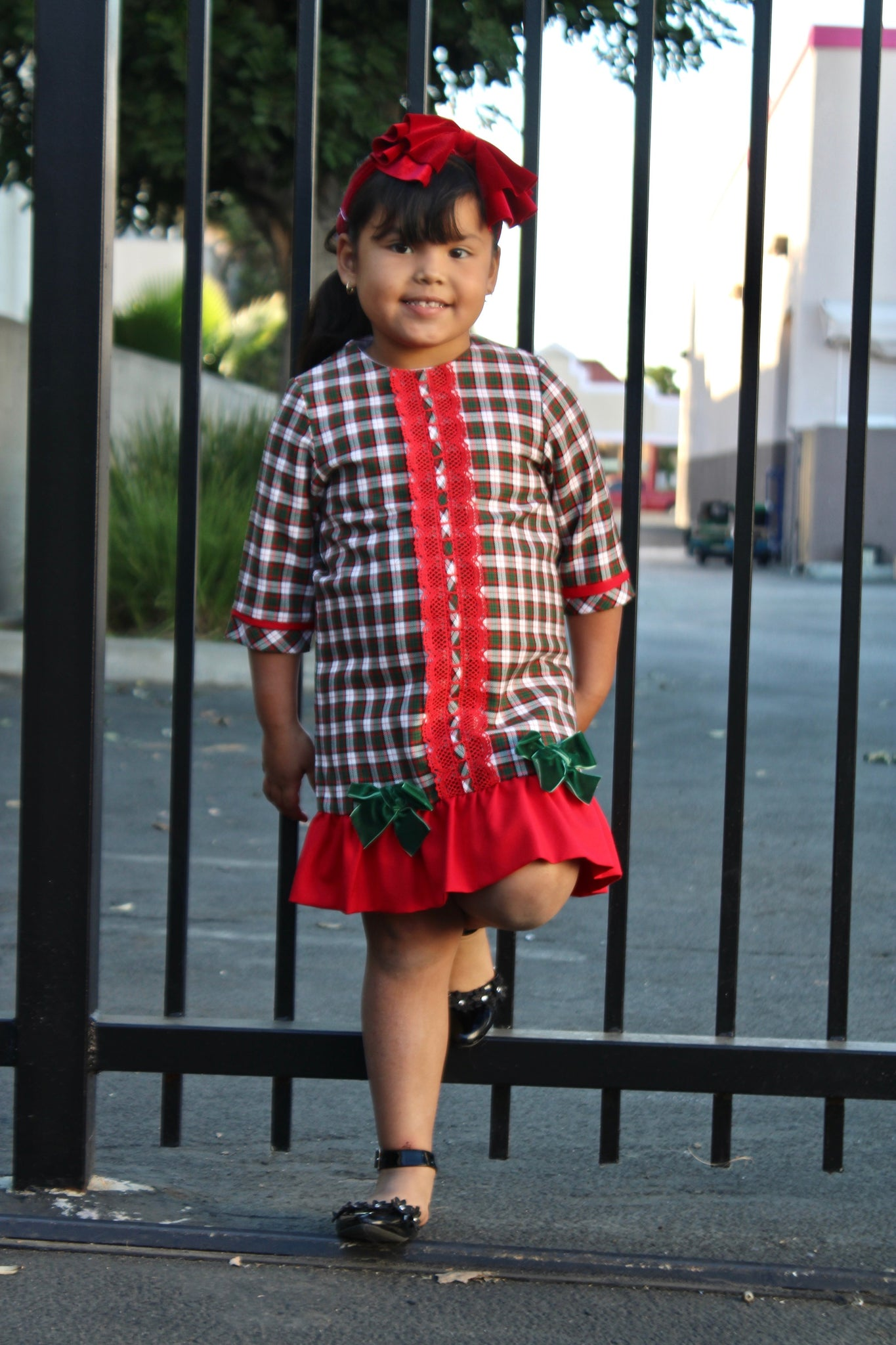 Plaid Holiday Dress By Eva Martinez