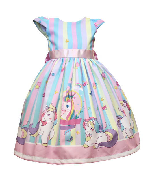 Stripe Unicorn Dress by Baby Eden