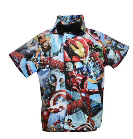 Avengers Boys Shirt by Baby Eden