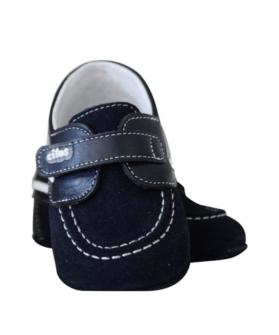 Boys Black Suede Moccasins by Citos