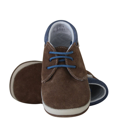 Boys Brown Suede Booties by Citos
