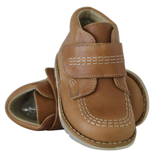 Boys Leather Tan Boots by Aladino