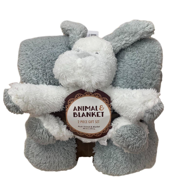 Plush Animal & Blanket