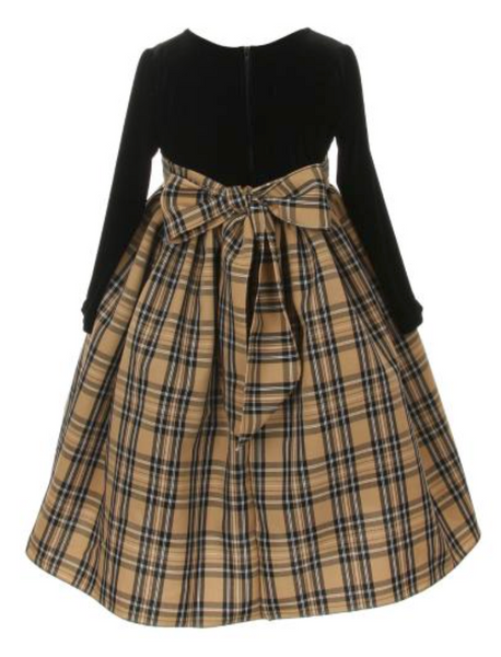 Plaid Velvet Dress by Cinderella