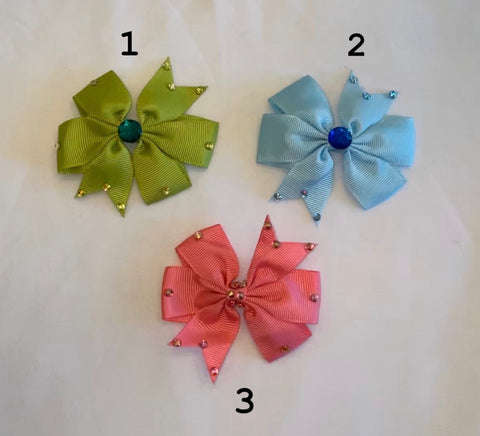 Hair Bows by Paulina- Rhinestone