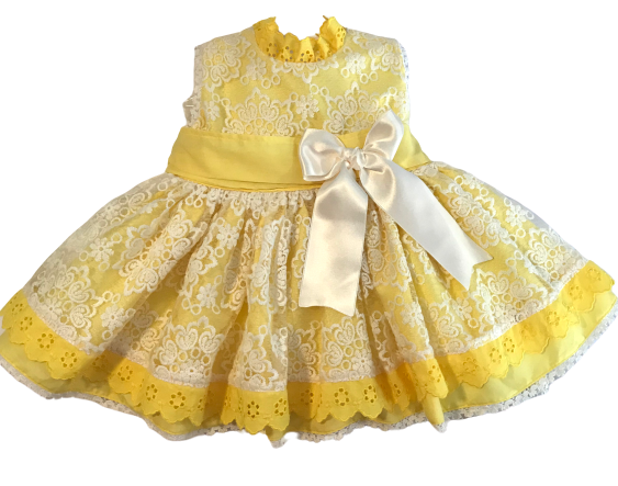 Sonata Yellow Dress w/eyelet No.514