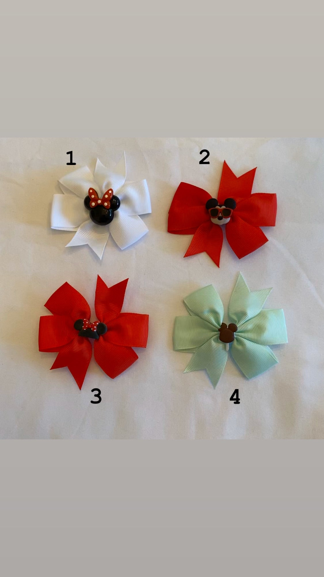 Hair Bows by Paulina-Disney Theme Bows