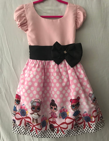 LOL Doll Pink With Black Bow