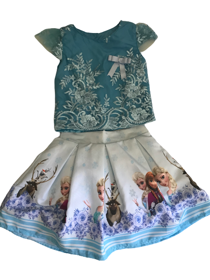 Frozen -2 piece Blouse and Skirt