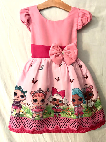 Lol doll Dress Pink Bow