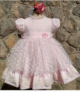 Sonata Dress Lace with Tulle Style No.9Pink