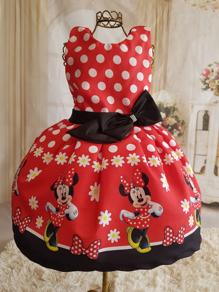 Minnie Mouse Sleeveless Red Dress by Baby Eden