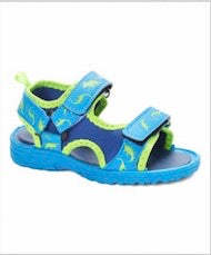 Lilly of New York Blue and Green Dino Sandal