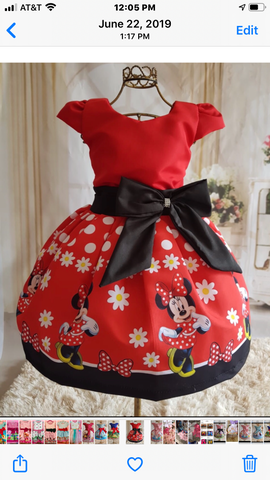 Minnie Mouse with sleeves Red by Baby Eden