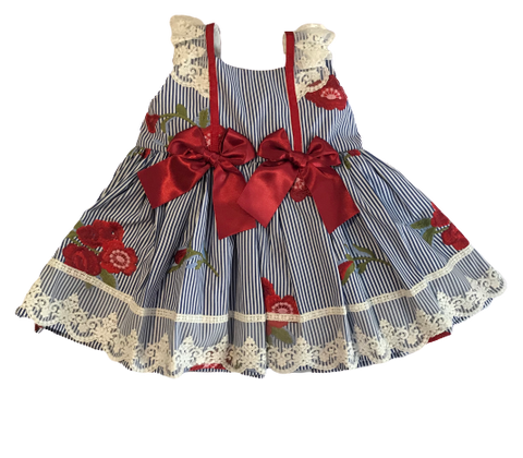 Sonata Red Flower Embroidery Dress No.308