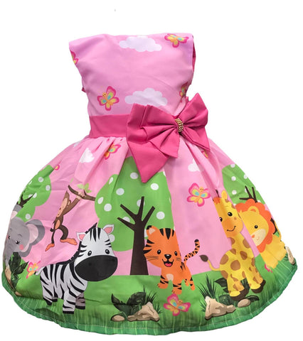 Safari Zoo Dress by Baby Eden