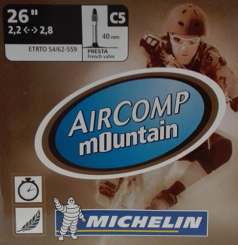 CAMARA MICHELIN AIRCOMP C5 26X2.2/2.8 V/FINA 40MM