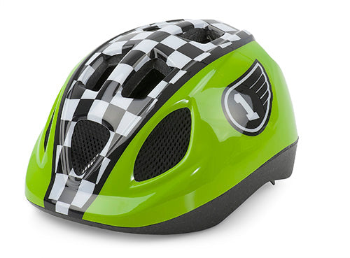 CASCO KID CARRERA VERDE/BLANCO/NEGRO 52-56CM