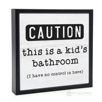 Kid's Bathroom Sign