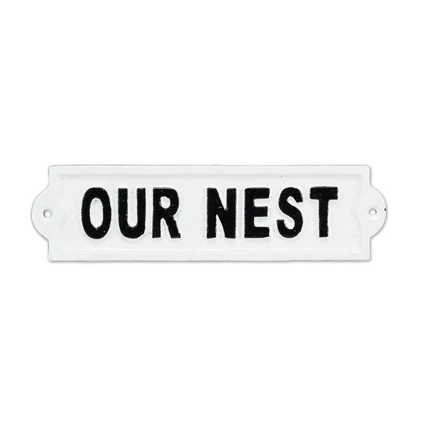 'Our Nest' Sign
