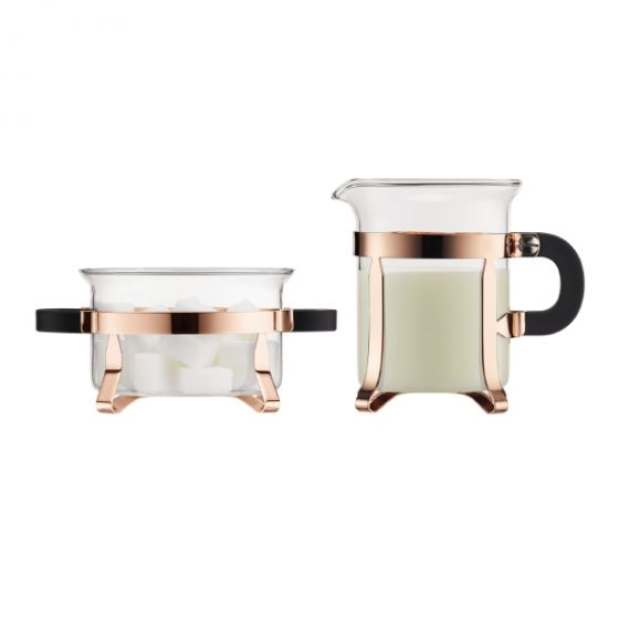 Chambord Copper Cream & Sugar Set