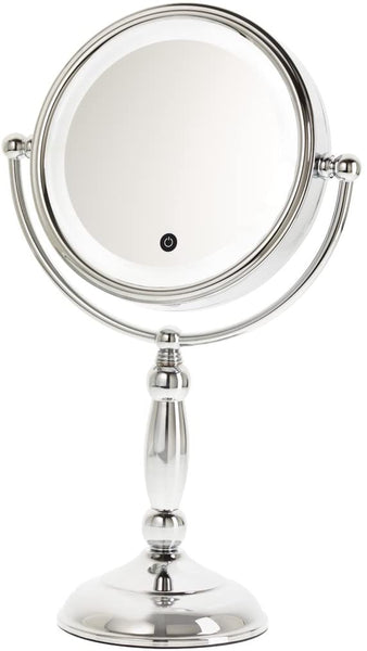 Chrome L.E.D. Mirror - 10X