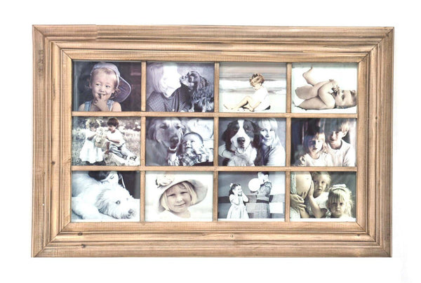 Natural Wood, 12 Picture wall Collage Frame