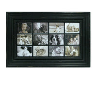 Distressed Black12 pc Picture Frame, 5x7