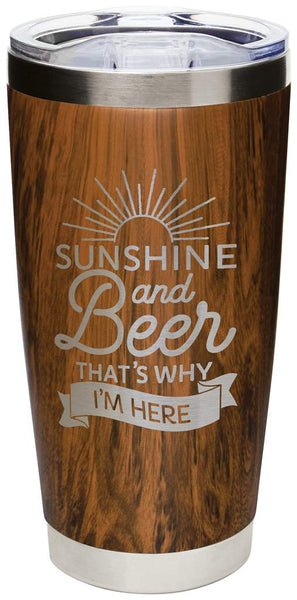 'Sunshine & Beer' Tumbler, 20oz