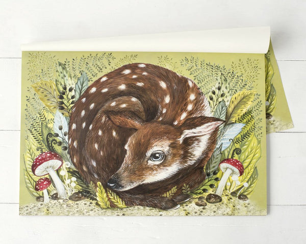 Flora Fawn-A Placemat