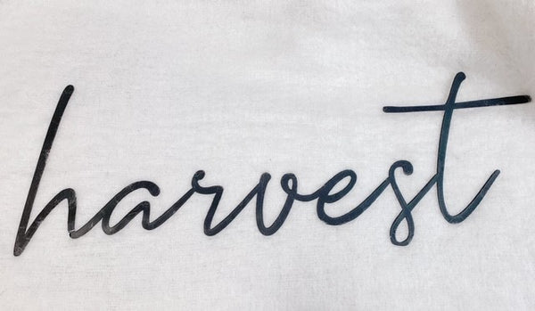 'Harvest' Metal Laser Cut Sign