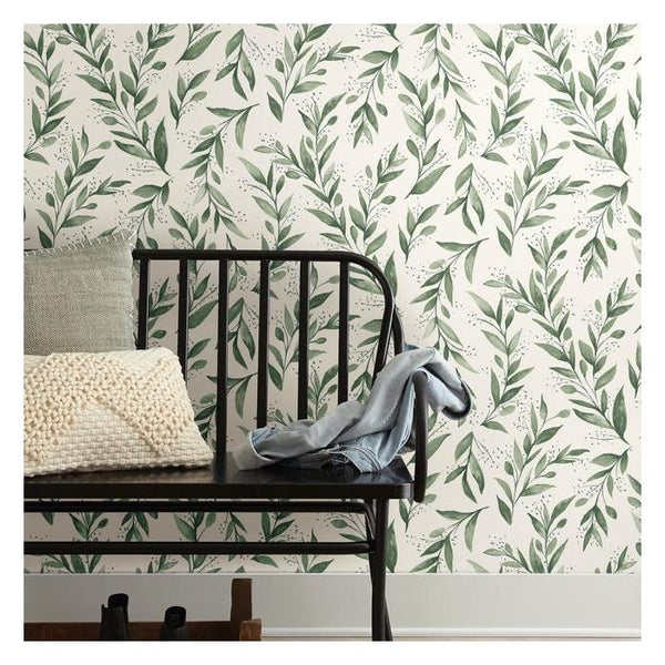 'Olive Branch' Peel & Stick Wallpaper