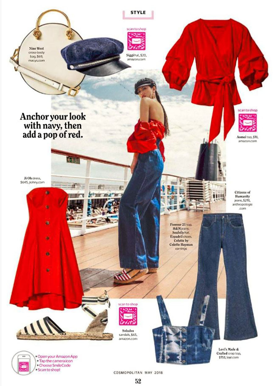 Chloe Mid Rise Flare featured in Cosmopolitan