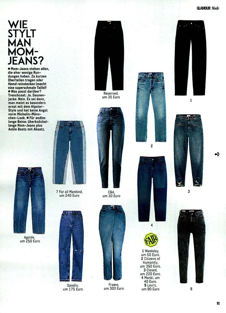 Charlotte High Rise Straight Fit featured in Glamour Germany