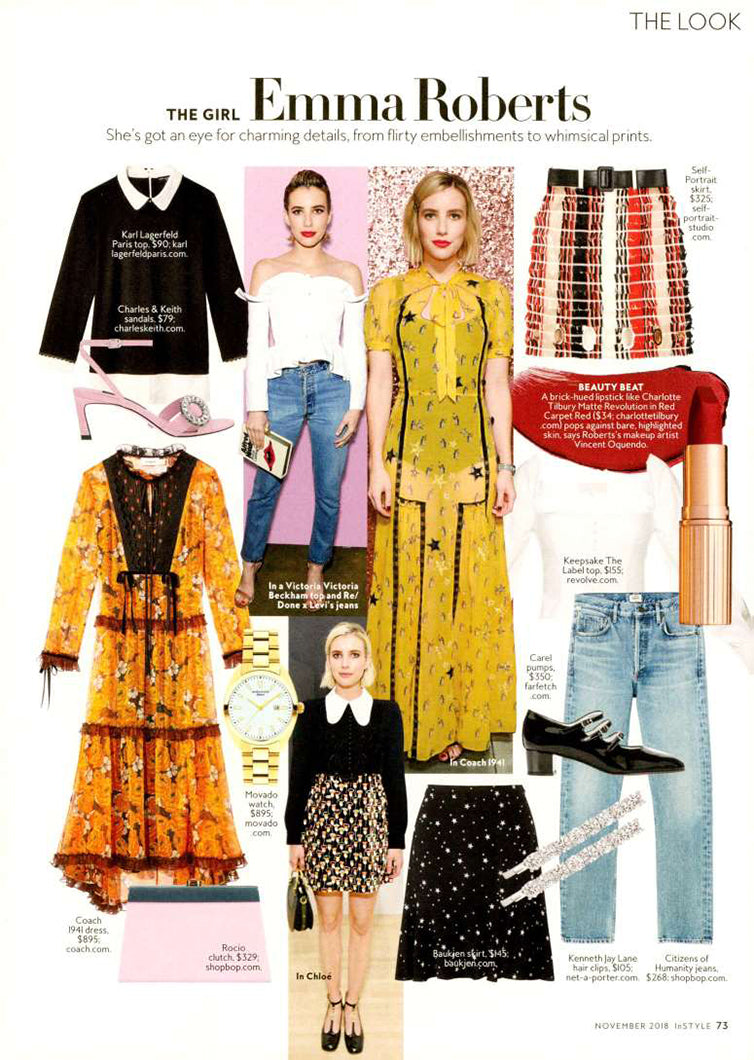 Charlotte High Rise Straight Fit Jean in InStyle Magazine