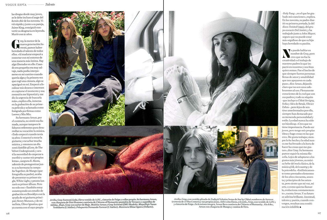 Jones Tee in Navy featured in Vogue Spain.