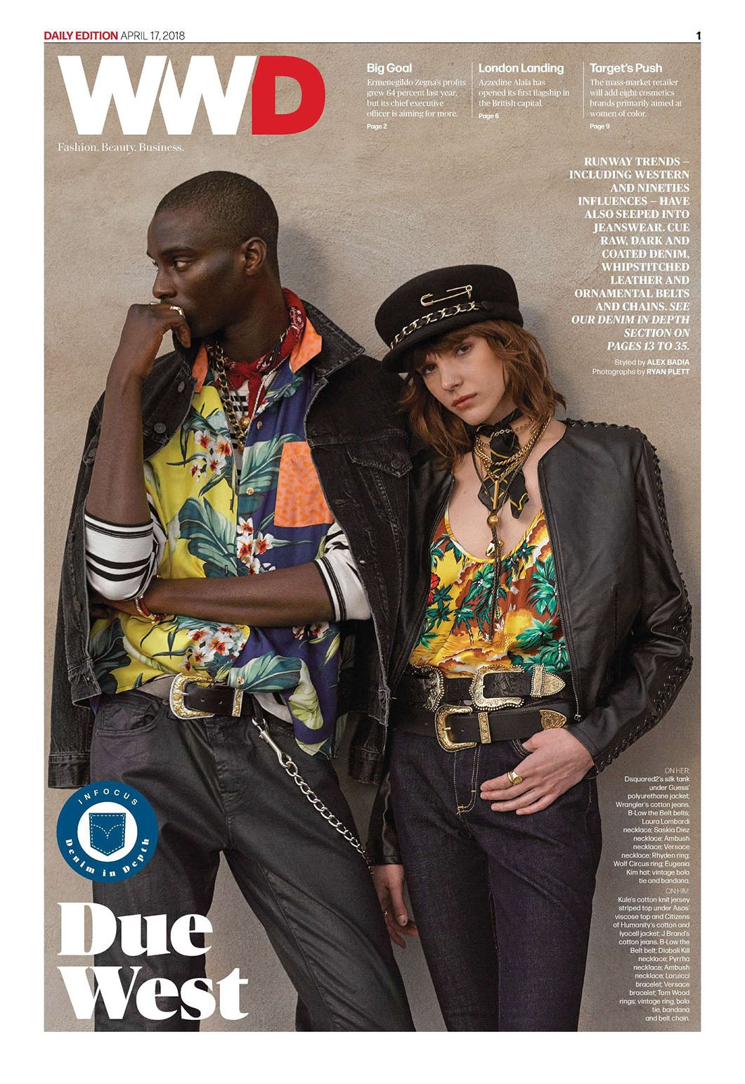 Classic Jacket in Black Birch featured in WWD