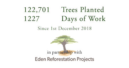 122,701 trees planted with Eden Reforestation Projects