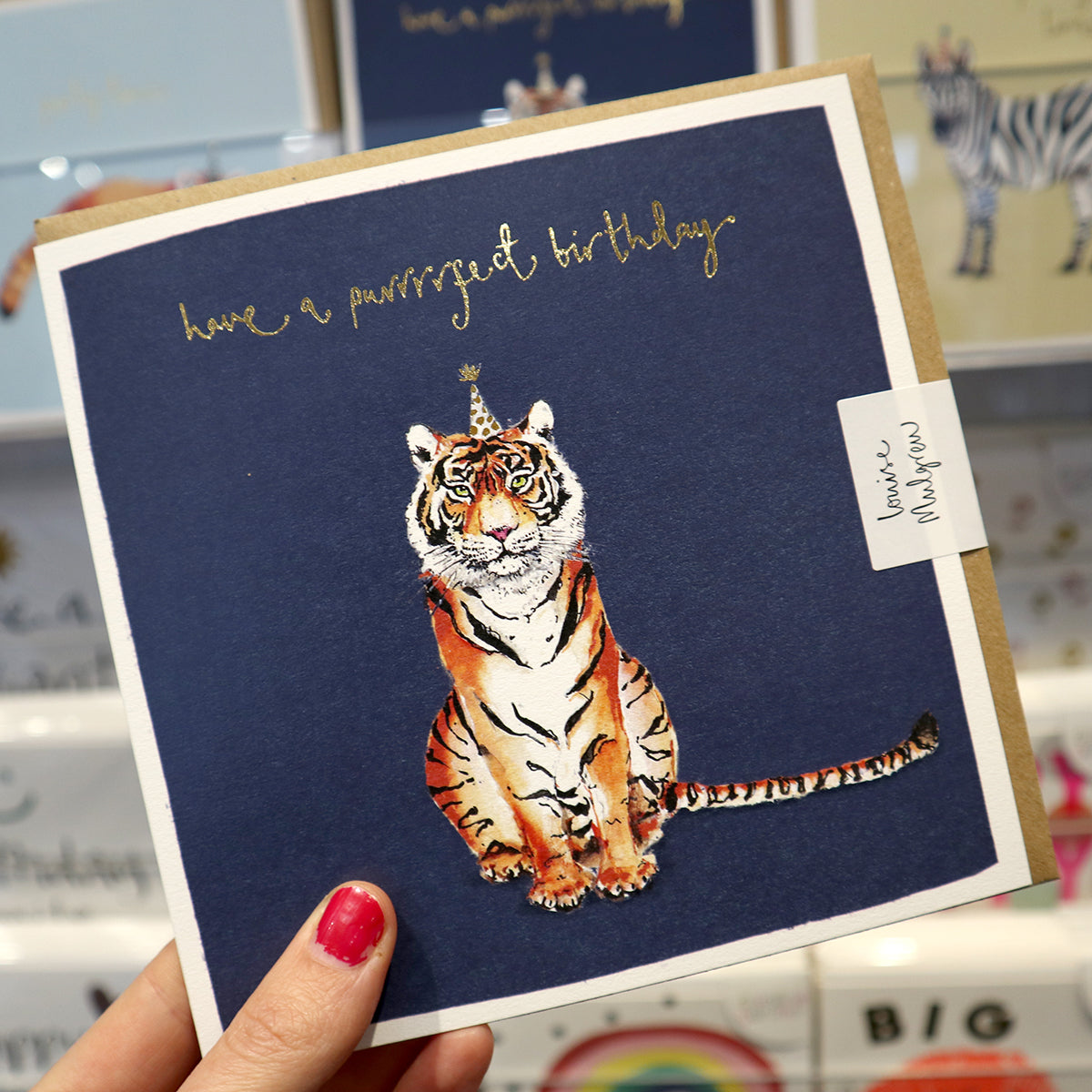 Louise Mulgrew Tiger Greetings Card
