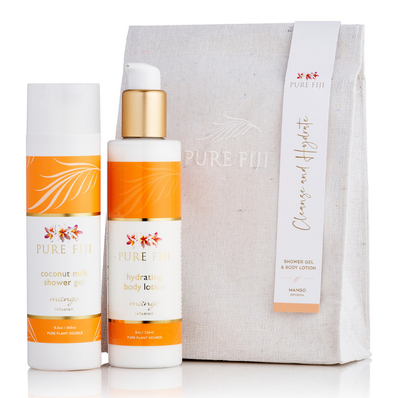 Pure Fiji Lotion and Shower Gel with Canvas Bag