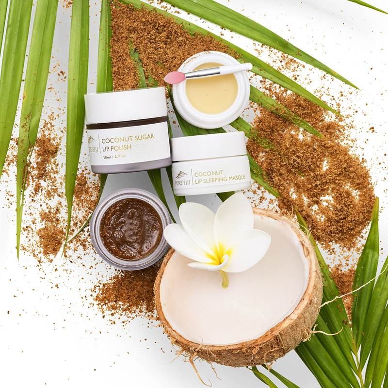Pure Fiji Coconut Sugar Lip Polish and Lip Sleeping Masque
