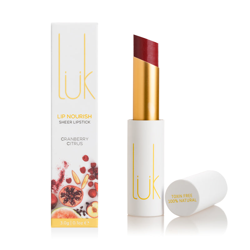 Luk Lip Nourish Natural Lipstick - Cranberry Citrus 3g