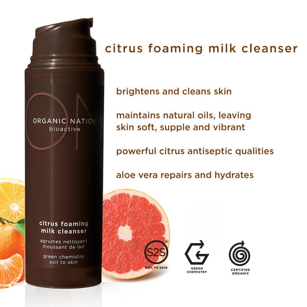 Organic Nation Citrus Foaming Cream Cleanser 150ml