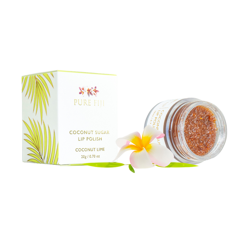 Pure Fiji Coconut Sugar Lip Polish 20g Coconut Lime Blossom