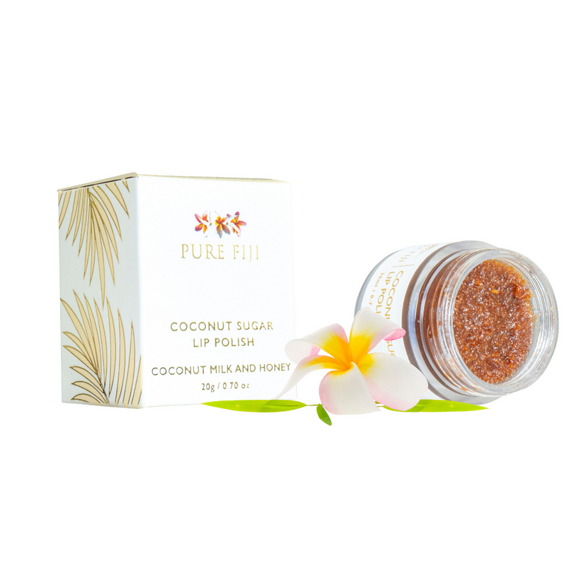Pure Fiji Coconut Sugar Lip Polish 20g Coconut Milk and Honey