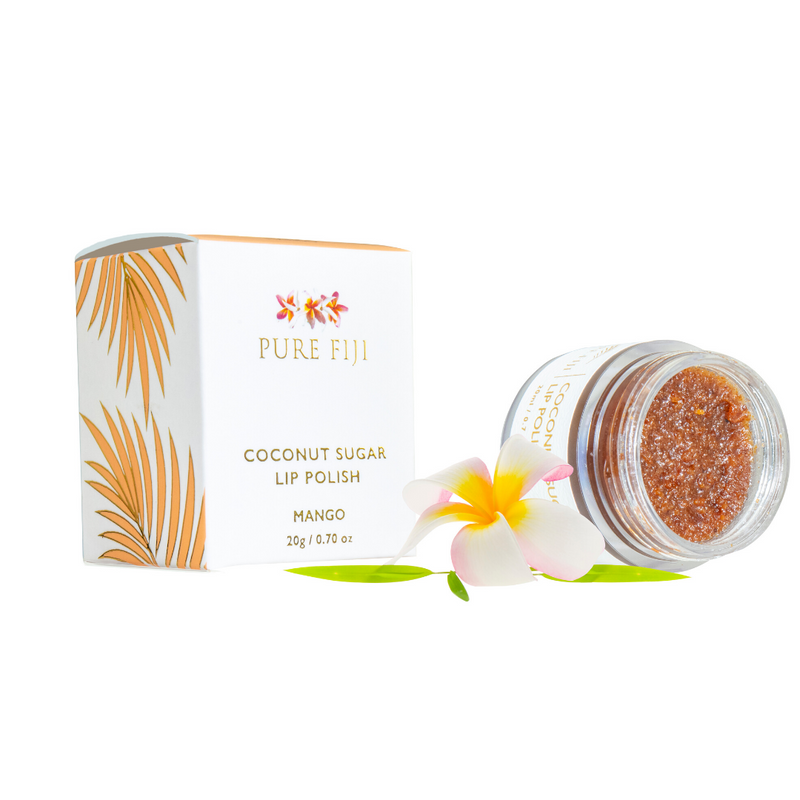 Pure Fiji Coconut Sugar Lip Polish 20g Mango